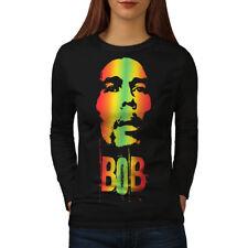 420 Pot Rasta Bob Marley Women Long Sleeve T-shirt NEW | Wellcoda