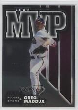 1998 Leaf Rookies & Stars MVP Pennant Edition 19 Greg Maddux Atlanta Braves Card