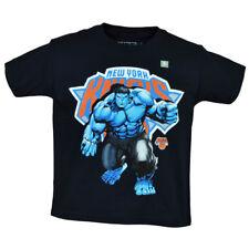 NBA Marvel New York Knicks Hulk Youth Tshirt Tee Short Sleeve Navy Blue Hero