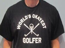 c851ddaaf Funny mens shirt World's Okayest Golfer golfing tshirt for dad new golf t  shirt