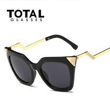 Moda Para Mujer Ojos De Gato Lente PLANA Reflectante Gafas sol retro gafas gafas