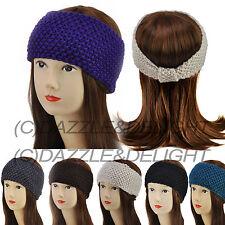 Knitted Diadema señoras Crochet Vincha oreja calentador diadema Ski Head Band Niñas