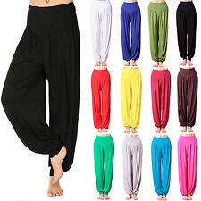 Mujeres Harén Pantalones para Alí Babá Pantalones Largos Holgado Yoga Danza Leggings Talla Grande 8-22