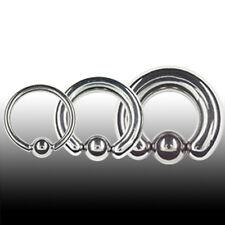 1,2mm Piercing Ring D: 6-13mm Klemmkugel Ring OHR Stahl Klemmring Lippe Septum