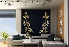 Flor Duo increíble Doble pegatinas de pared durable habitación calcomanías Muchos Colores Nuevo Uk
