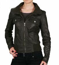 Women Leather Jacket Soft Solid Lambskin New Handmade Motorcycle Biker S M # 55