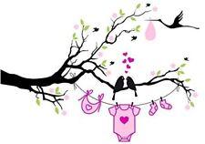 Baby Shower - Love Birds Girl ~ Edible Icing Image