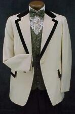 2 tone Tan & Brown Velvet Tux Jacket or 4pc Retro After Six Tuxedo Vintage Mens