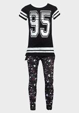 Girls Summer T-Shirt And Leggings Kids Minoti Tracksuit Short Sleeve Top 3-8 Yr
