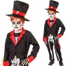 Boys Mr Bone Jangles Costume Skeleton Voodoo Halloween Fancy Dress Child Outfit