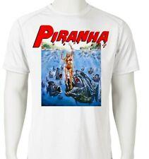 ccf72097c Piranha Dri Fit graphic T-shirt retro 80s sci fi horror movie SPF sun shirt