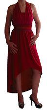 Womens Halter Neck Casual Midi Longline Party Fishtail Crop Fashion Dress