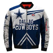 Dallas Cowboys Pilot Bomber Jacket Flying Tigers Flight Thicken Coat Warm Jacket