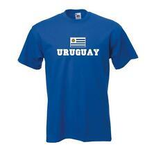 T-Shirt URUGUAY, Flag Shirt Herren Fanshirt mit Flagge bis 5XL (WMS02-70a)