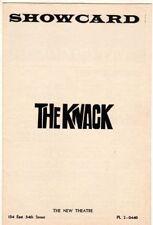 """The Knack"" Playbill 1965 Sam Waterston Gerome Ragni"