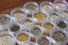 Quetschperlen Crimp Beads Box 1,5mm 2mm 2,5mm 3mm 3,5mm 4mm  10g 20g 30g