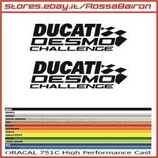 KIT 2 ADESIVI DUCATI DESMO CHALLENGE mm.150 x 38  - STICKERS AUFKLEBER PEGATINAS
