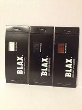 BLAX SNAG FREE HAIR ELASTICS PONYTAIL HOLDERS 4mm - CLEAR,BLACK,BROWN,PINK