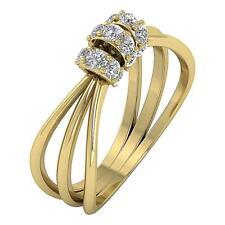Engagement Wedding Ring SI1 H 0.35Ct Natural Diamond 14Kt Yellow Gold Prong Set