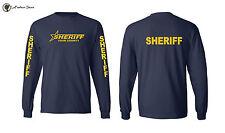 New Deputy Sheriff Logo Long Sleeve T-shirts Custom County Law Enforcement S-3XL