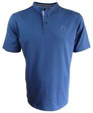 Baileys Rundhals T-Shirt in blau mit Knopfleiste Gr. M bis XXL