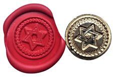 Jewish Star of David Wax Stamp Seal Starter Kit or Buy Coin Only XWS039B/XWSC275