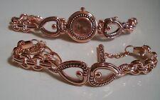 Western look RoseGold finish Heart fashion women casual/dressy watch or Bracelet