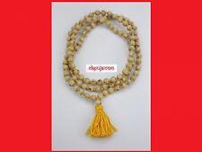 Natural Tulsi Basil Beads Handmade Hindu Prayer Mala 108+1 Meditation Yoga mala