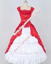 Renaissance Ball Gown Gothic Reenactment Red Dress Wedding Formal Dress Costume