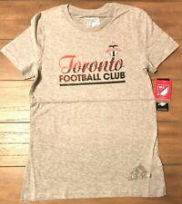 Toronto Football Club Adidas T-Shirt - Girls L - Grey - MLS Soccer - NWT
