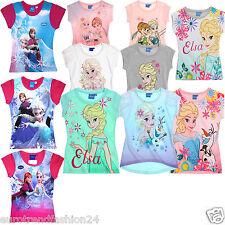 Disney Frozen / Die Eiskönigin Elsa Anna Sommershirt Shirt T-Shirt Oberteil Neu
