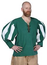 Landsknecht Shirt, green/white, Medieval LARP Costume Garment