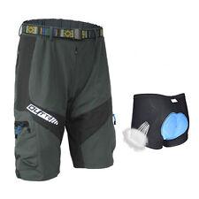 Dark Grey Men's Baggy Cycling Knicks Loose MTB Bike Shorts + Cycling Underwear