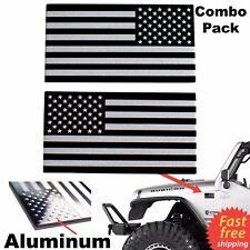 3D METAL American Flag Emblem Sticker Decal Auto, Bike, Truck, Black & Silver