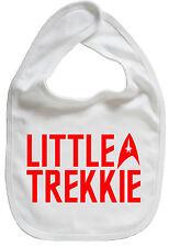 """""""poco Trekkie"""" Funny Bebé Niño Chico Chica alimentando Babero Regalo Star Trek"""