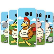 Veganism Vegan Loving Animals Snap-on Hard Case Phone Cover for Samsung Phones