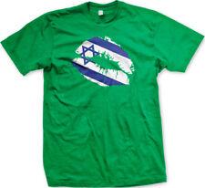 Israeli Flag Colors Israel Lipstick Kiss Lips Heritage ISR IL From Men's T-Shirt