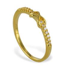 GOLD DOUBLE *** Zirkonia Ring Infinity  vergoldet, Größenauswahl