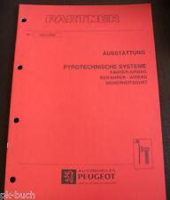 Werkstatthandbuch Peugeot Partner Ausstattung Airbag Sicherheitsgurt , 09-1996