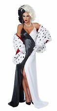 101 Dalmatians Cruella de Vil  Villian Sexy Adult Costume