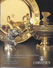 CHRISTIE'S GENEVA RUSSIAN FABERGE ART SILVER VERTU SNUFF BOXES MINIATURES Cat 93