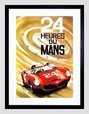 Pubblicità 24 Heures du Mans Automobile Auto da Corsa Classic Framed Art Print b12x5461