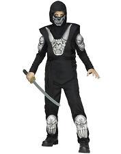 Black Demon Ninja Boys Dark Assasin Warrior Halloween Costume