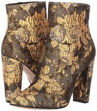 Women's Jessica Simpson Teddi Metallic Multi Floral Brocade Ankle Boot, MU Sizes