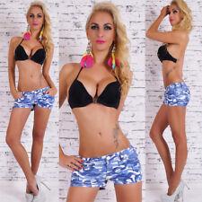 Pantaloncini Donna Shorts Camouflage Pantaloni Corti Militare Sexy Moda Estate