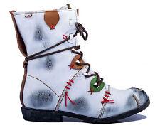 TMA 1868 Damen Stiefeletten Winter Leder gefüttert weiß alle Größen 36-42