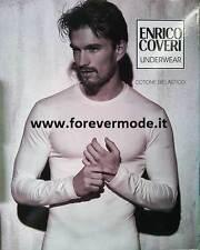 Camiseta de hombre Coveri manga larga cuello redondo de algodón bi-elástico art