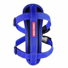 Ezy-dog haute qualité chestplate harnais & free seatbelt fixation (bleu)