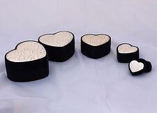 Portagioie porta gioie con blasone in argento  scatola astuccio forma cuore
