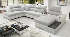 Ideales Ecksofa Wohnlandschaft Ponti Abstellfläche Polstersofa Couch XXL Sofa 26